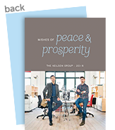 Peace & Prosperity on Grey 5x7 Flat Card