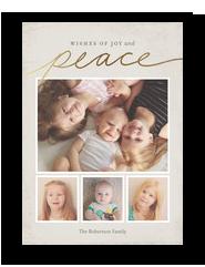 Gold Script Peace 5x7 Flat Card