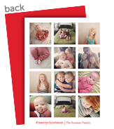 12-Photo Grid 5x7 Flat Card