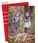 Script Joy Overlay 5x7 Flat Card