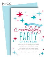Wonderful Party 5x7 Flat Card