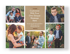 Multi-photo with Kraft Paper 7x5 Flat Card