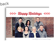 Happy Holidays on White 7x5 Flat Card
