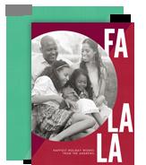 Fa La La 5x7 Flat Card