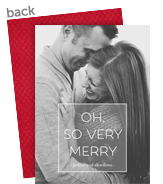 Very Merry Overlay 5x7 Flat Card