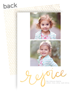 Hand Lettered Rejoice 5x7 Flat Card