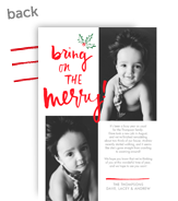 Merry Holiday Update 5x7 Flat Card