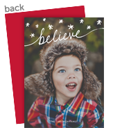 Believe Script Overlay 5x7 Flat Card