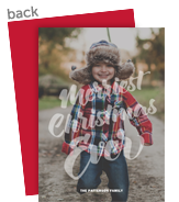 Merriest Christmas Ever Overlay 5x7 Flat Card