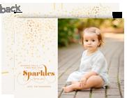 Christmas Sparkles 7x5 Flat Card