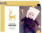 Gold Foil Reindeer 7x5 Flat Card