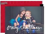 Merry Christmas Script Overlay 7x5 Flat Card