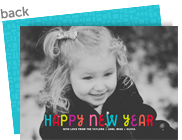 Colorful New Year 7x5 Flat Card