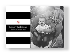 Holiday Stripes 7x5 Flat Card