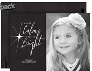 Christmas Star on Chalkboard 7x5 Flat Card