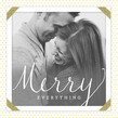 Merry Everything 4.75x4.75 Folded Card
