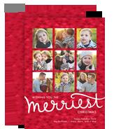 Merriest Triangle Pattern 5x7 Flat Card