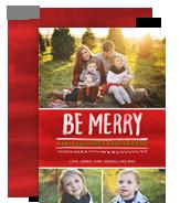 Merry Brushstrokes 5x7 Flat Card