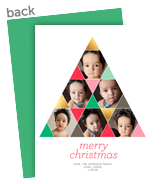 Merry Christmas Triangles 5x7 Flat Card