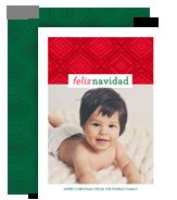 Feliz Navidad Line Art Pattern 5x7 Flat Card