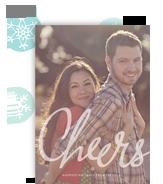 Script Cheers Overlay 5x7 Flat Card