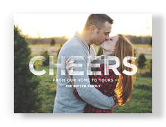 Block Cheers Overlay 7x5 Flat Card