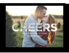Block Cheers Overlay 7x5 Flat Card