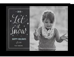 Let it Snow Chalkboard 7x5 Flat Card