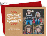 Warmest Wishes on Kraft 7x5 Flat Card