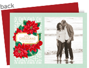 Poinsettias with Tag 7x5 Flat Card