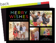 Colorful Wishes 7x5 Flat Card