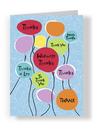 Thankful Balloons 5x7 Folded Card