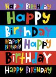 Colorful Birthday 5x7 Folded Card