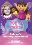 Dora - Invitation 5x7 Flat Card
