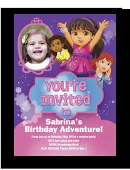 Dora - Invitation 5x7 Flat Card
