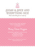 Sugar & Spice Baby Shower 5x7 Flat Card