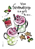 Friendship Cocoa 5x7 Folded Card