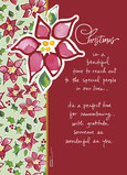 Poinsettia Pattern 5x7 Folded Card