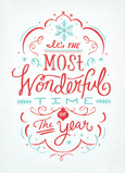 Most Wonderful Time Lettering - No Photo 5x7 Folded Card
