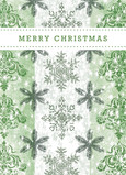 Green Snowflake Design 5x7 Folded Card