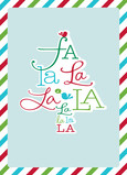 Fa La La Tree 5x7 Folded Card