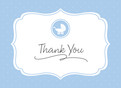Baby Rattle Thank You - Blue 5.25x3.75 Folded Card