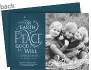 Peace and Good Will 7x5 Flat Card