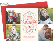 Most Wonderful Time Lettering Design 7x5 Flat Card