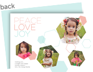 Peace Love Joy - Geometric Design 7x5 Flat Card