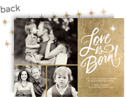 Love is Born! 7x5 Flat Card