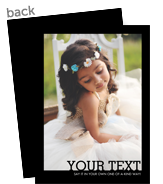 Create Your Own - Black Border 5x7 Flat Card