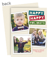 Happy Happy Holidays 5x7 Flat Card