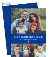 Create Your Own - 4 Photos, Blue 5x7 Flat Card