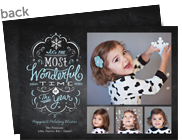Most Wonderful Time on Chalkboard 7x5 Flat Card